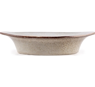 Farmstead Stoneware Large Oval Baker - Bisque