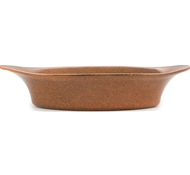 Farmstead Stoneware Large Oval Baker - Terracotta
