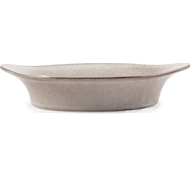 Farmstead Stoneware Small Oval Baker - Bisque