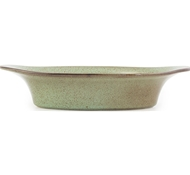 Farmstead Stoneware Small Oval Baker - Mint