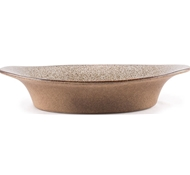 Farmstead Stoneware Small Oval Baker - Mushroom
