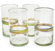 Rainbow Recycled Pint Glass - Set of 4