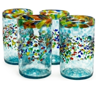 Bambeco Aqua del Sol Recycled Pint Glass - Set of 4