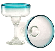 Maya Recycled Margarita Glass - Set of 2 - Aquamarine