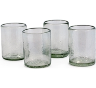 Maya Recycled Tumbler - Set of 4 - Clear