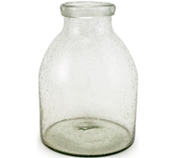 Recycled Glass Bubble Vase - Large