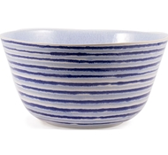 Farmstead Stoneware Striped Serving Bowl - Mist
