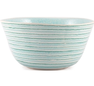 Farmstead Stoneware Striped Serving Bowl - Green