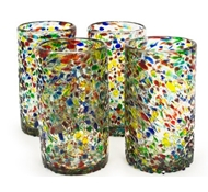 Confetti Recycled Pint Glass - Set of 4