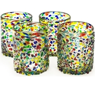 Confetti Recycled Tumbler Glass - Set of 4