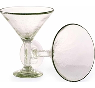 Maya Recycled Martini Glass - Set of 2 - Clear
