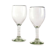 Maya Recycled Wine Glass - Set of 2 - Clear