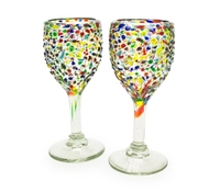 Confetti Recycled Wine Glass - Set of 2