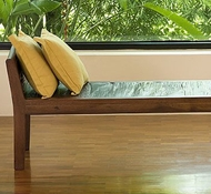 UP Teak Inlaid Bench by Natural Fine Furnishings