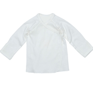 Ultimate Green Baby Organic Cotton Long Sleeve Baby Tee - Off White