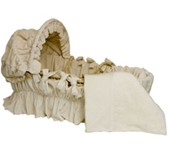 Ultimate Green Baby Organic Cotton Ivory Velour Bedding Set (Bedding Only) for Moses Basket