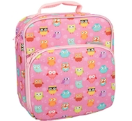 Insulated Lunch Tote with Side Pocket - Owl