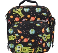 Insulated Lunch Tote with Side Pocket - Alien