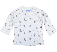 Under The Nile Long Sleeve Side Snap T-Shirt- Animal Print - Nature's Nursery Collection