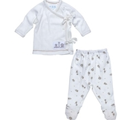 Under The Nile Side Tie Layette Set - Animal Print - Nature's Nursery Collection