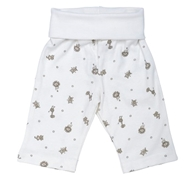 Organic Cotton Rolled Waist Pants - Animal Print - Nature's Nursery
