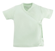 Organic Cotton Short Sleeve Side Snap T-Shirt - Sage Green