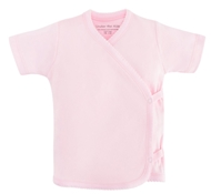 Organic Cotton Short Sleeve Side Snap T-Shirt - Pink