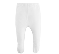 Organic Cotton Footed Pant - White
