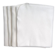 Organic Cotton Burp Cloths - 4 Pack - White