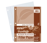 Pacon Ecology Recycled Filler Paper - Wide Rule