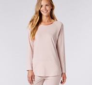 Organic Cotton Women's Solstice Long Sleeve T-Shirt - Camellia