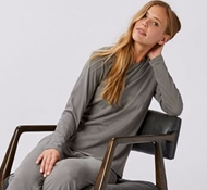 Organic Cotton Women's Solstice Long Sleeve T-Shirt - Slate