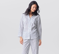 Organic Cotton Botanic Women's Pajama Set - Blue