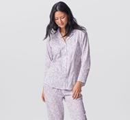 Organic Cotton Botanic Women's Pajama Set - Lavender