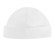 Organic Cotton Baby Beanie - White