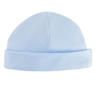 Organic Cotton Baby Beanie - Pale Blue
