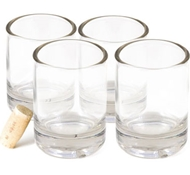 Recycled Wine Bottle Rocks Drinking Glasses - 10 oz. (Set of 4)