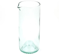 Recycled Wine Bottle Carafe in Aqua - 20 oz.