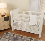 White Organic Cotton Crib Bedding Collection + Blankets ($49-$194)