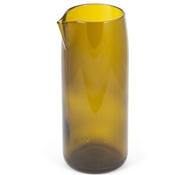 "Wine Punts Olive 7"" Flat Bottom Wine Carafe"