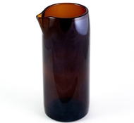 "Recycled Wine Bottle 7"" Flate Bottom Wine Carafe in Rootbeer"