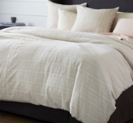 Coyuchi Cayucos Organic Duvet Cover in Dusty Coral