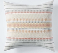 Coyuchi Lost Coast Organic Cotton Decorative Pillow Cover in Coral