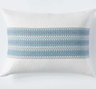 Coyuchi Lost Coast Organic Cotton Sham in Marine w/Grays
