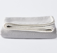 Coyuchi Mediterranean Organic Cotton Swaddle Blanket in Pewter