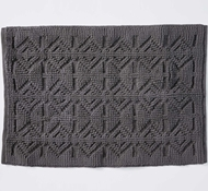 Coyuchi Mosaic Canyon Organic Cotton Bath Rug in Slate with Pavement