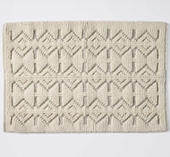 Coyuchi Mosaic Canyon Organic Cotton Bath Rug in Natural with Slate