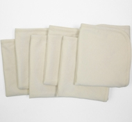Coyuchi Organic Cotton Jersey Burp Cloths in Natural