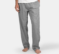 Coyuchi Organic Cotton Crinkle Men's Pajama Pant in Dark Gray Chambray