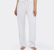 Coyuchi Organic Cotton Crinkle Pajama Pant in Alpine White